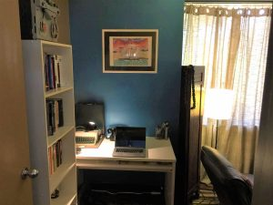 Desk area when first walking into my room.